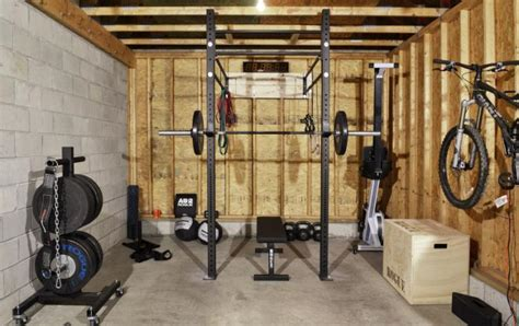 w 4 garage custom garage set up by rogue fitness