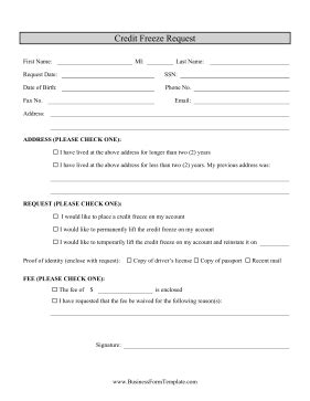 credit inquiry form template credit inquiry form template