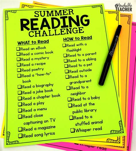 the summer reading challenge summer reading challenge 2017 a teachable