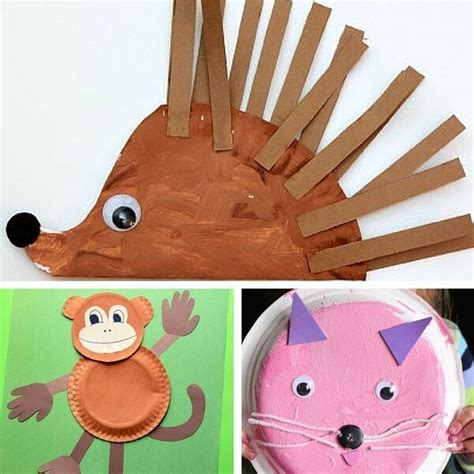 Animal Paper Craft - 40 animal paper plate crafts for the