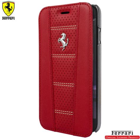 ferrari  iphone   genuine perforated leather book