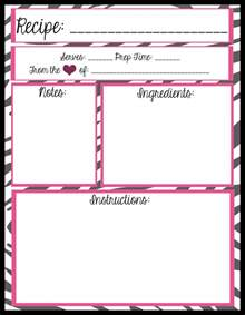 recipe template mesa s place page recipe templates free printables