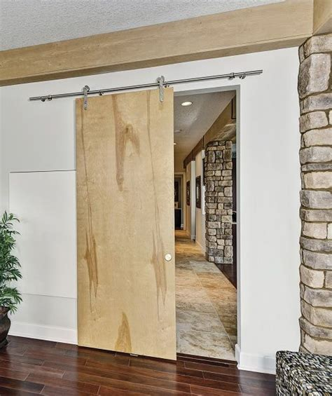 Modern Barn Door Track System Wall Mounted Doors For An Industrial Look Industrial Solid Interior Doors And Barn Door