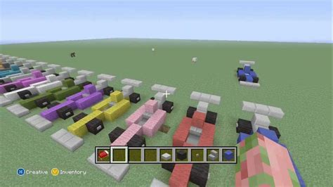 minecraft race car minecraft how to make an formula 1 race car youtube