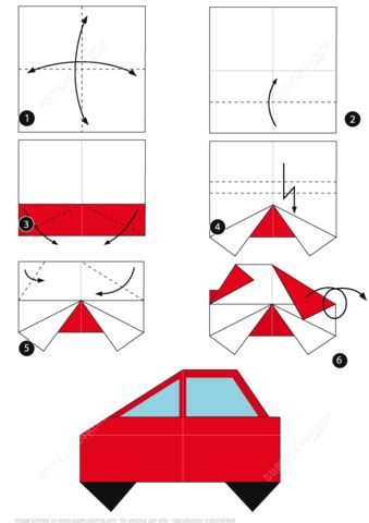 How Do You Make A Car Out Of Paper - how to make an origami car free printable