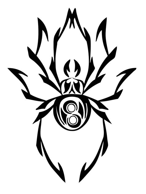 tribal black widow tattoo black widow clipart tribal