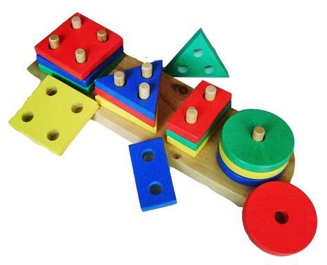 Ronche Geo 20 Pcs geo bentuk 4 mainan kayu