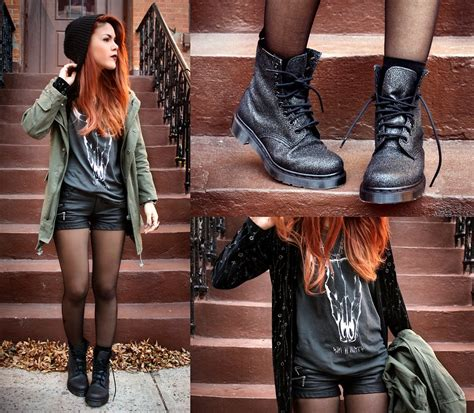 shorts with boots snapper dr martens boots rocking nyc nolita