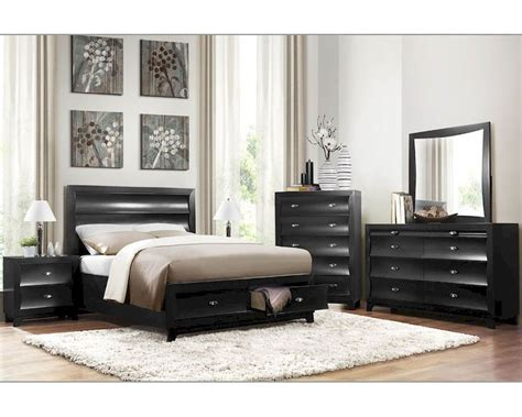 pearl bedroom furniture homelegance storage bedroom set zandra in pearl black