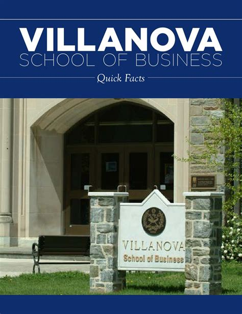 Villanova Mba Ranking 2015 by Quickfacts 2015 By Villanova School Of Business Issuu
