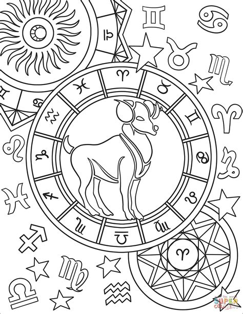 printable zodiac coloring pages aries zodiac sign coloring page free printable coloring