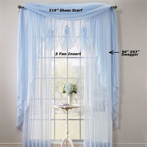 extra long sheer curtain panels sheer voile extra long panels and scarf curtainshop com