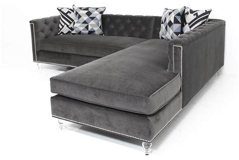 dark grey sectional hollywood sectional in cannes dark grey velvet modshop