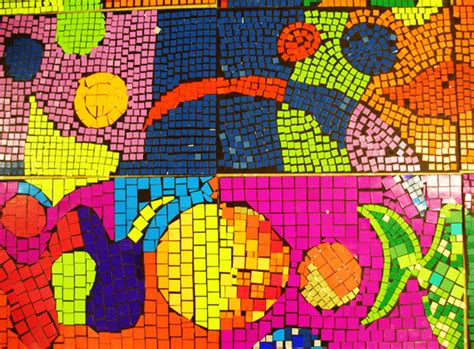 How To Make A Mosaic With Paper - paper mosaics adelle