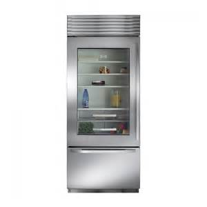 Sub Zero Refrigerator With Glass Door Sub Zero Bi30ugs Bottom Freezer Built In Refrigerator Townappliance