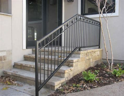 Exterior Banister by Curved Wrought Iron Stair Railings And Exterior Wrought