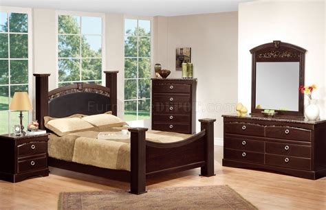 faux marble bedroom set deep merlot finish traditional bedroom w faux marble accents