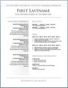 free printable resume templates template design