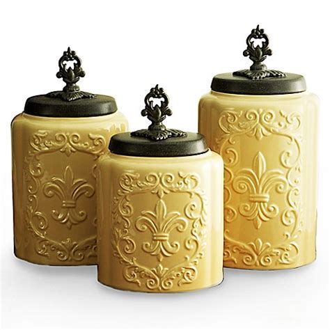 Antique Kitchen Canister Sets american atelier 3 piece antique canister set bed bath