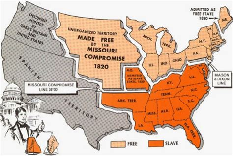 us map missouri compromise line sectional issues