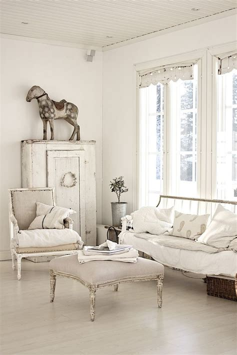 living room whitewashed chippy shabby chic french country rustic swedish decor idea pinned