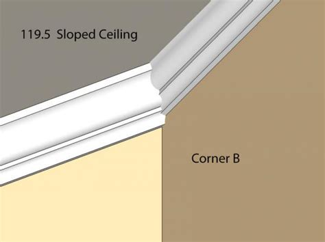 crown molding angled ceiling installing crown moulding on a sloped ceiling