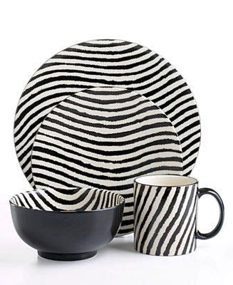 zebra pattern dinnerware joseph abboud zebra 16 piece dinnerware set striped