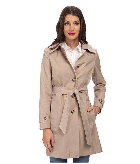 Breasted Belted Coat dkny single breasted hooded belted trench coat