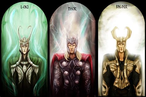 thor film balder loki thor and balder by kaetiegaard deviantart com on