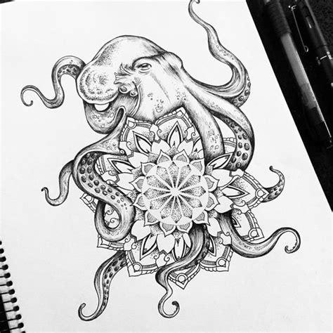 mandala jellyfish tattoo octopus mandala tattoo commission miletune tattoo