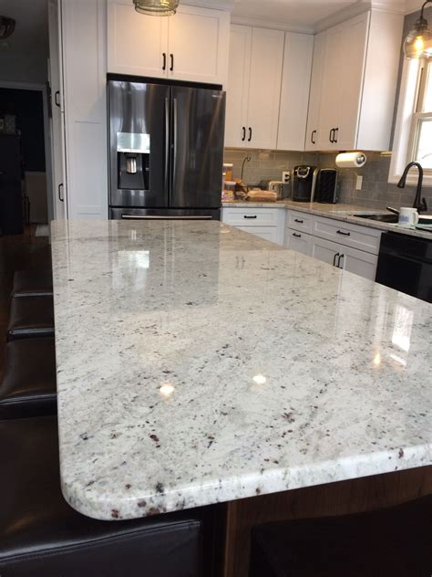 Colonial Countertop - colonial white granite island kitchens in 2019 white