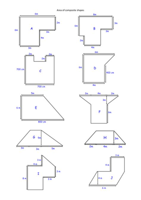 printable area of composite figures area of composite shapes by alicecreswick teaching