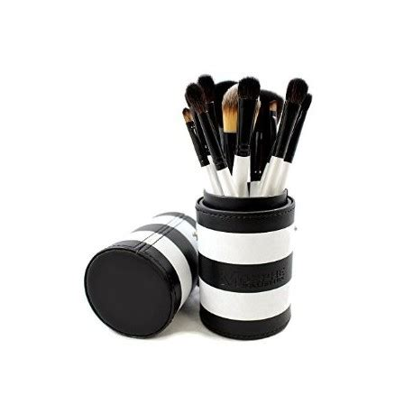 Quen Shop White Brush Sonar morphe brushes 706 12 black and white travel brush set beautykitshop