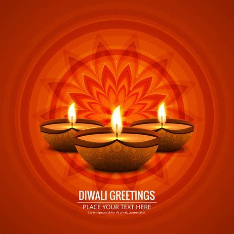beautiful greeting card  festival  diwali celebration