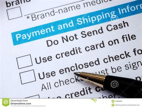 make a credit card make payment with credit card or check royalty free stock
