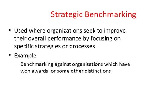 meaning of bench marking benchmarking