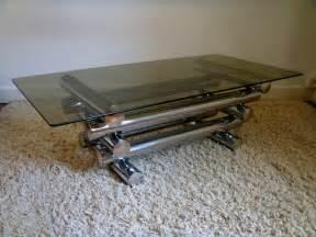 table basse vintage chrome design italien des 233 es 70
