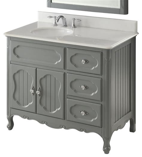 White Cottage Bathroom Vanity 42 Quot Cottage Style White Knoxville Bathroom Sink Vanity Bathroom Vanities