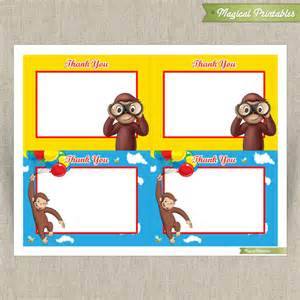 curious george blank birthday thank you cards