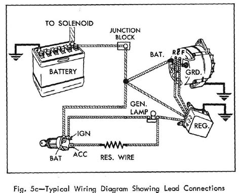 wiring diagram of a car alternator efcaviation
