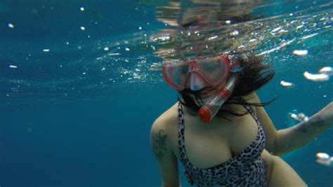 Kacamata Renang Snorkel Erchen Glass kacamata selam scuba diving snorkeling black