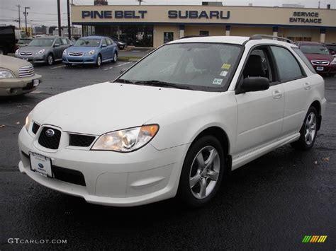white subaru wagon 2007 satin white pearl subaru impreza 2 5i wagon 22262603