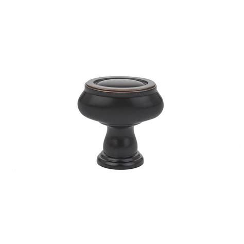 brass geometric oval cabinet knob american designer