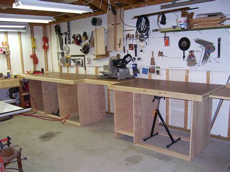 garage workshop bench norm abram s work bench in my garage by bob