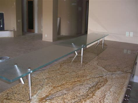 Glass Bar Top Counter Floating Kitchen Counter Gluechipped Glass