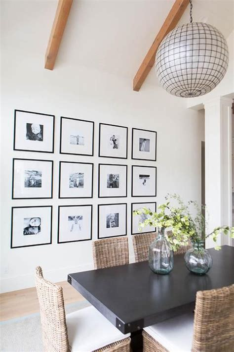 modern dining room gallery wall ideas home design