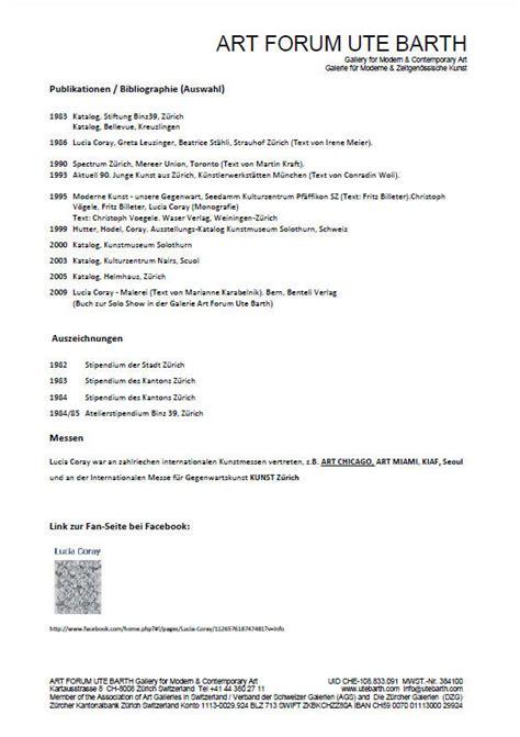 Presseeinladung Muster Press Release Pressemeldung Galerie Forum Ute Barth Zurich