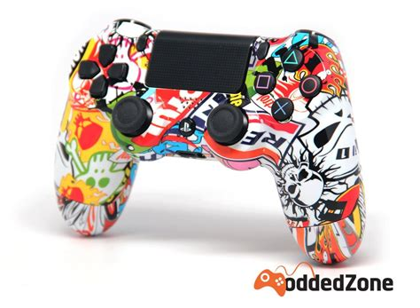 Ps4 Controller With Stickers by Quot Sticker Bomb Quot Ps4 Modded Controller Moddedzone