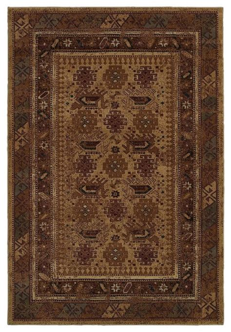 Rustic Area Rugs Southwestern Lodge Bellevue 5 3 Quot X7 7 Quot Rectangle Beige Area Rug Rustic Rugs By Rugpal