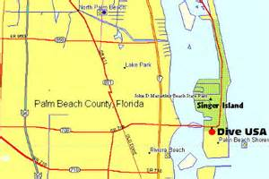 Singer Island Florida Map by Dive Buddies